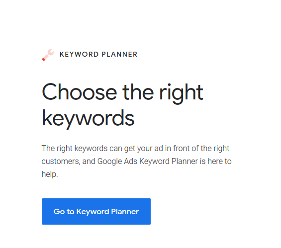 google keyword planner for keyword idea
