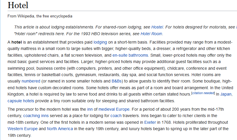 wikipedia serp