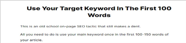 On-page seo-great content tips