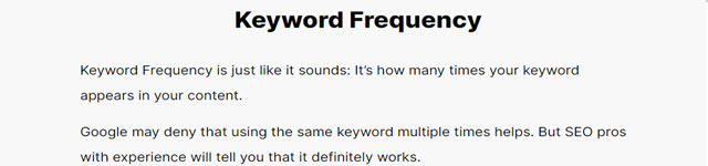 on page seo-keyword frequency