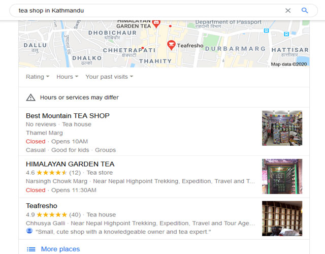 local seo-local search result