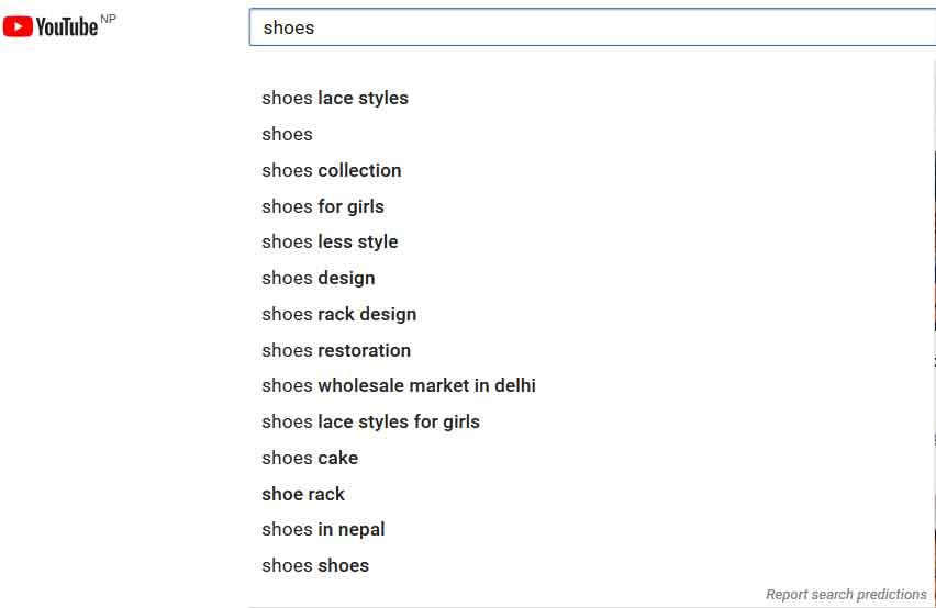 youtube suggested keyword